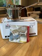 All-clad 6202 Ss Copper Core 5-ply Sauce Pan With Lid, 2qt Quart New Retail Box