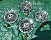 Vintage 4 Oem Buick 15 Wire Wheel Hub Caps/lock Retainers And Key,one Owner,exlt