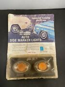Awesome 1960s Aftermarket Add-on Amber Side Marker Lights Day 2 Custom Hot Rod