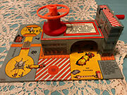 1950s Marx Space Satellite 2-story Building Diorama 12 Toy Launches Spacecraft