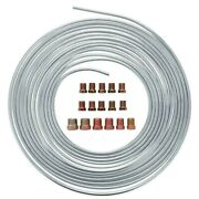 New 25 Ft. Roll Coil Of 3/16 Inch Od Iron Copper Brake Line Tubing Kit Fittings