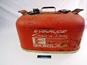 Vintage Evinrude Cruis-a-day 6 Gallon Marine Outboard Boat Gas Can W/ Fuel Gauge