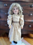 Antique 28 German Moa Doll Bisque Socket Head On Composition Body