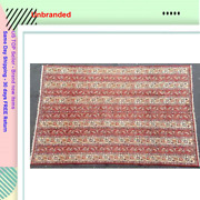 Oriental Cultural Design Hand Made Area Rug 8and0394 X 11and039 Early 1960