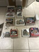 Lot Of 6 Christmas Village Building Retired -collection