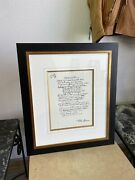 1995 Framed John Lennon Lithograph Drive My Car Numbered 362/1000