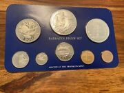 T2 Barbados 1979 Franklin Mint Proof Set 10 And 5 Dollar Are .925 Silver