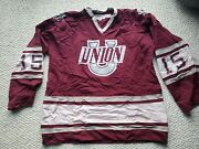 Union College Vintage Stall And Dean Ncaa Mens Size 50 Maroon Hockey Jersey Used