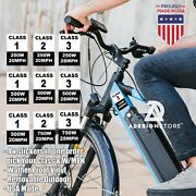 4 Electric Bike Sticker Bicycle Frame Identification Class Number Stickers Type
