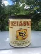 Rare Luzianne Coffee And Chicory Can 3lb Advertising New Orleans 15c