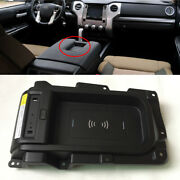For 2014-2020 Toyota Tundra 15w Qi Wireless Center Console Phone Charger Pad Box