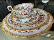 Antique Hammersley 10072 China Oriental Floral Svc For 8 - C.1900