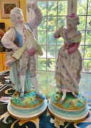 Pair Of Antique Xix Bisque Porcelain Figurines Jean Gille Vion And Baury 14andrdquo
