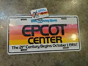 Vintage Disney Epcot Center Opening Oct 1 1982 Pin And License Plate Sealed