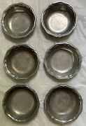 """Wilton Armetale Columbia 1972 Queen Anne Cereal Soup Bowl 7"""" Lot Of 6"""