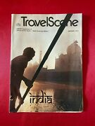 Travel Scene January 1973 Official Airline Guide Supplement India Magazine