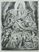 William Blake Engraving - The Book Of Job Plate 2 - The Angel Of The Devine...
