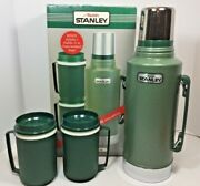 New Aladdin Stanley Big Half Gallon Steel Bottle Thermos With Mugs Nice Must See