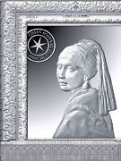 France 2021 10 Andeuro Euro Silver Proof Vermeer Girl With The Pearl Rectangular Coin