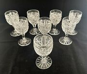 Set 8 Pairpoint Nevada American Brilliant Cut Glass Crystal Abp Cordials