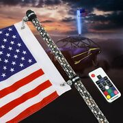 2x 4ft Spiral Rgb Led Whip Lights For Atv Accessories Rzr Can-am Polaris Antenna