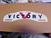 1940's War Time License Plate Topper Victory Using Morse Code