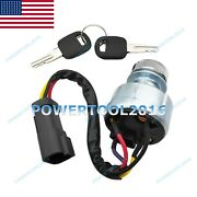 Ignition Switch And Keys 142-8858 For Caterpillar 902 904h 904b 906 906h 907h 908h
