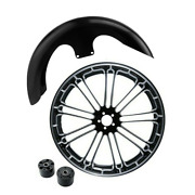 23x3.5 Front Wheel Rim Hub Front Fender Fit For Harley Touring Road King 08-21