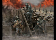 German Soldier In The Trench Painted Toy Miniature Pre-sale | Art