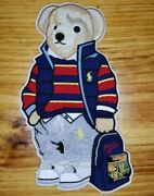 Chenill Iron On Polo Bear Patch. No Sewing Needed For This Rl Patch