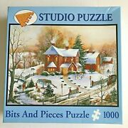 Bits And Pieces Jigsaw Puzzle 1000 Pieces American Gothic Winter Scene 2009