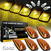 5x Cab Roof Parking Marker Running Lights Kit W/ Led Bulbs For Chevy Gmc Truck
