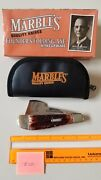 Marbles Folding Axe W Knife Stag Handle - Zipper Case - New In Box Free Shipping