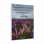 Bible Verse Canvas Word Of God Stands Forever Isaiah 408 Christian Home Dandeacutecor W