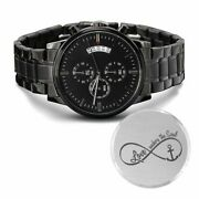 Love Anchors Engraved Bible Verse Christian Watch Multifunction Stainless Steel