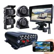 4 Channel Gps Wifi 1080p Ahd Hdd Mobile Vehicle Car Dvr Kit With 7inch Screen