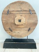 Antique Japanese Ox Cart Wheel 100+ Years Old Rare