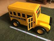 Super Large Quantity 40cmreleased In Japan Yellow School Bus Tin At The Time