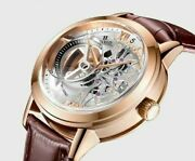 Rich Crystal Mens Automatic Mechanical Watch Skeleton Luxury Men Watches