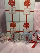 Lot Of 4 Christofle France Silver Plated Christmas Ornaments 1986-1989 Gorgeous