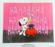 Houndiniand039s Hat Trick Ltd Ed Snoopy Animation Cel Peanuts Charlie Brown Ed Of 50