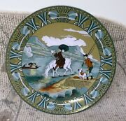 Buffalo Pottery Emerald Deldare Ware Dr Syntax Sketching The Lake 12 Charger