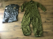 Vintage Usmc Military Army Green Coveralls Jumpsuit Mechanic Garage Size 44 R