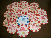 25 Sonic Drive In Cherry Limeade Poker Chips 2016 2017 2018 2019 2020