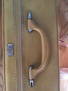 Vtg 1940andrsquos Amelia Earhart Gold Suitcase Luggage 24 X 17 Large Nice