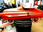Garton Usa 5608 Fire Truck Pedal Car 1950's.good Solid Carrides Great