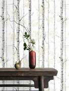 Woodland Black-white Printed Wallpaper, Removable Wallpaper, Wall Decoration Lot