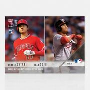 2018 Topps Now 824 Shohei Ohtani And Juan Soto Rookies Of The Month For September