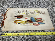 Rare Antique 1895 It's All In The Draw Poker Player Gambling Playing Cards Book