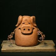 Chainsaw Carving, Wood Art, Farm Animals Little Pig Wood Carving, Ooak, Shrum 🐷